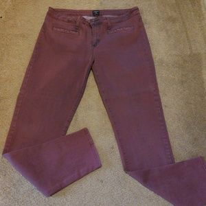 Just Black Size 32 cute stretch purple pants